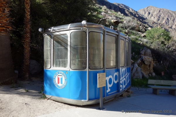 Old style tram car. These were replaced by the new revolving cars in 2000