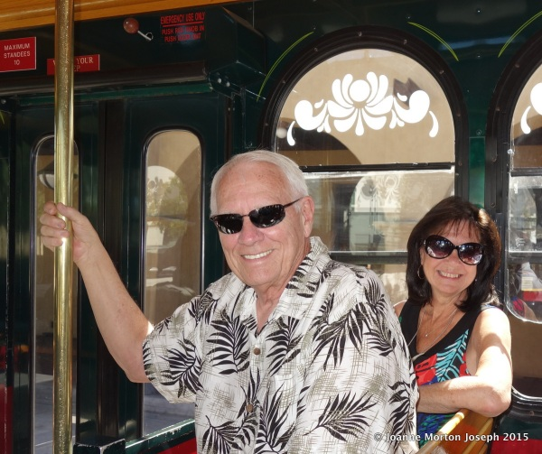 Dick and Karen on the trolley