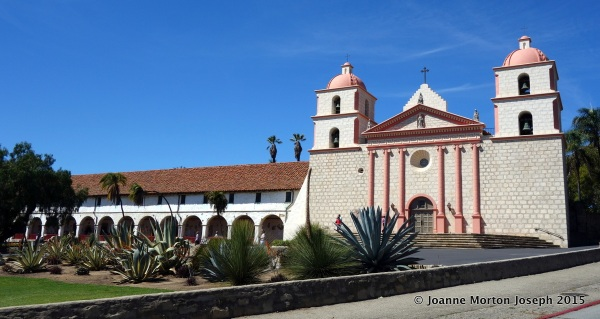 Passing by the Santa Barbara Mission