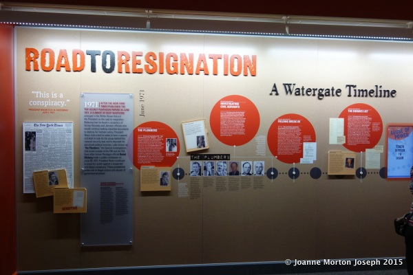 An entire section was devoted to the Watergate scandal