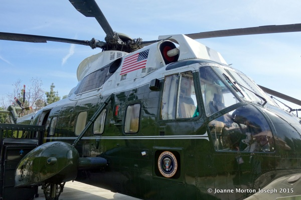 Marine 1 whenever the President was on board and it was flown by a Marine pilot