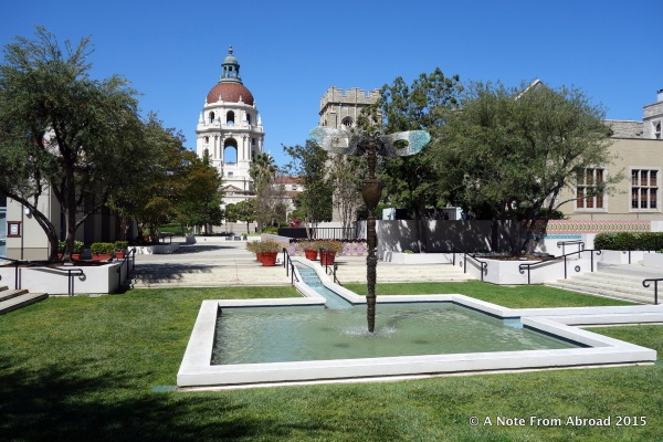 View from the patio of California Pizza Kitchen in Pasadena