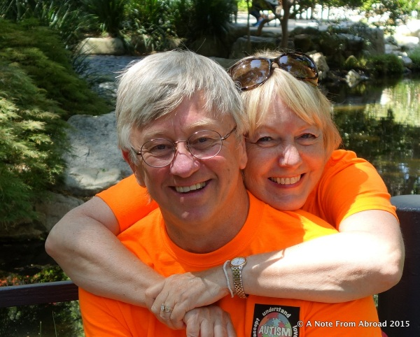 Tim and Joanne in the Japanese Gardens