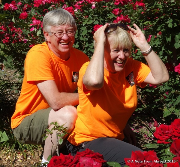 Tim and Joanne in the Rose Garden