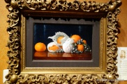 Untitled by William J McCloskey (tangerines in tissue with grapes)