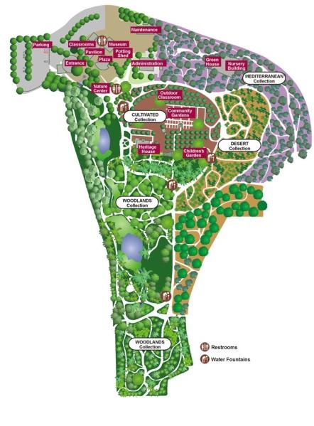 Map of Fullerton Arboretum courtesy of FullertonArboretum.org