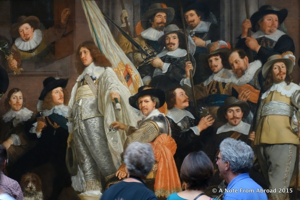 I loved how the people looking at this painting by Bartholomeus van der Helst seemed to become part of it