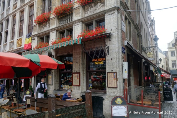 A little cafe where we ate lunch in Brussels