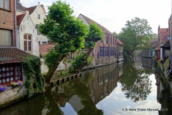 Along one of several canals that pass through Brugge