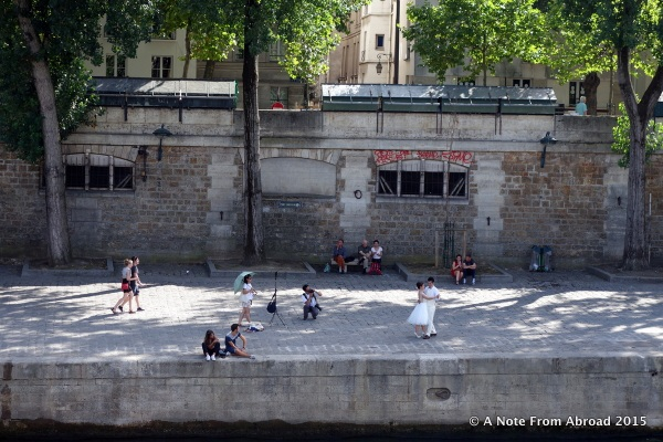 Dancing next to the Seine River