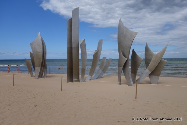 At Omaha Beach at high tide