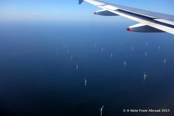 First windmills I have seen in Amsterdam, and they are in the water!