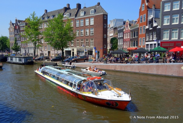 Canal excursion boat. I think we will be taking a similar boat on our Gate 1 tour in a few days