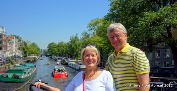 Our weather has been ideal, and walking the canal ring was a highlight for both of us