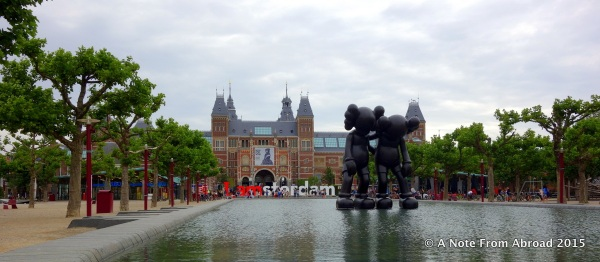 I Amsterdam sign in front of Rijksmuseum