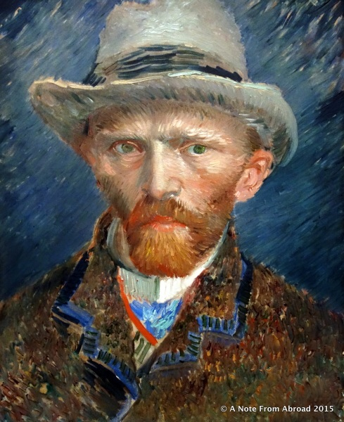 Self Portrat, Vincent van Gogh c.1887 (oil on cardboard)