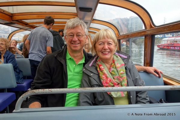 Tim and Joanne on the canal boat