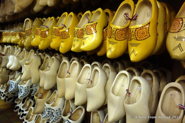 They had clogs in many sizes available to purchase, either to wear or for a souvenir.