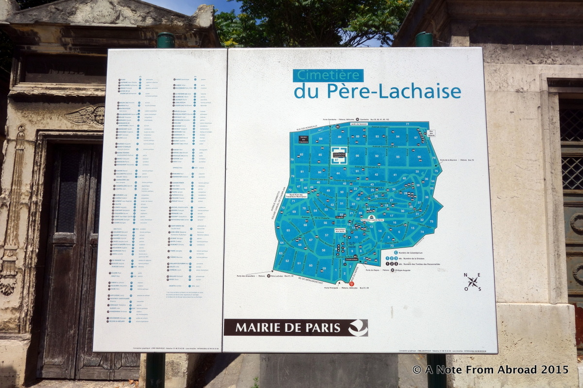 Top Paris ~ Père Lachaise Cemetery and the Eiffel Tower | A Note From  QF57