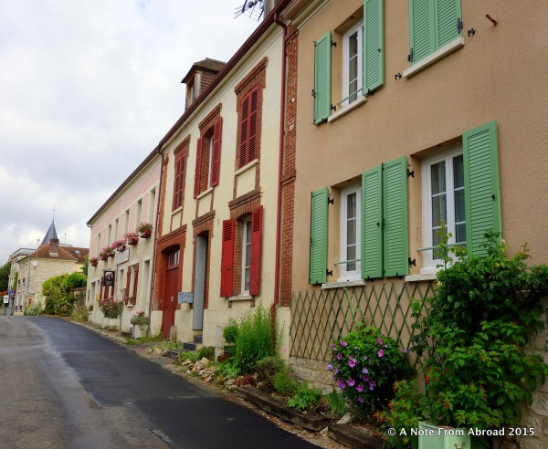 Typical street in Giverny