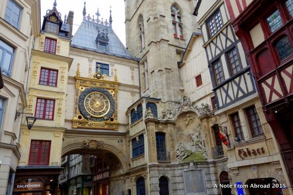 Gros Horloge (astronomical clock) in Rouen