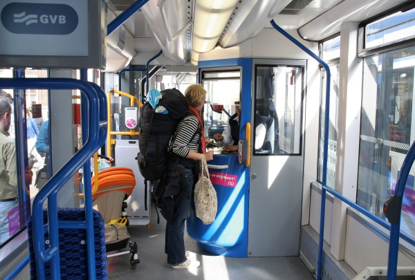 Conductors cabin on the tram