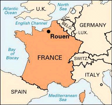 Map Of France Rouen.France Rouen It Was Love At First Sight A Note From Abroad