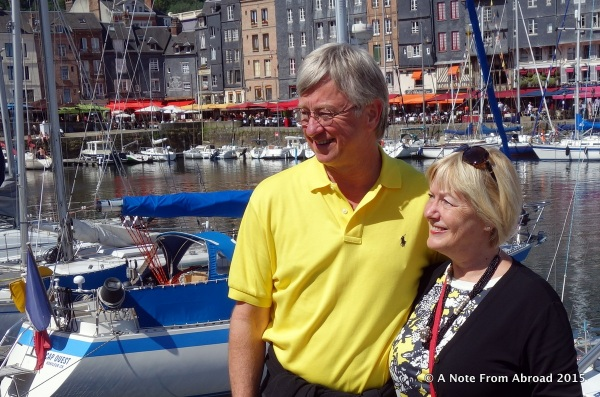 Tim and Joanne in Honfleur