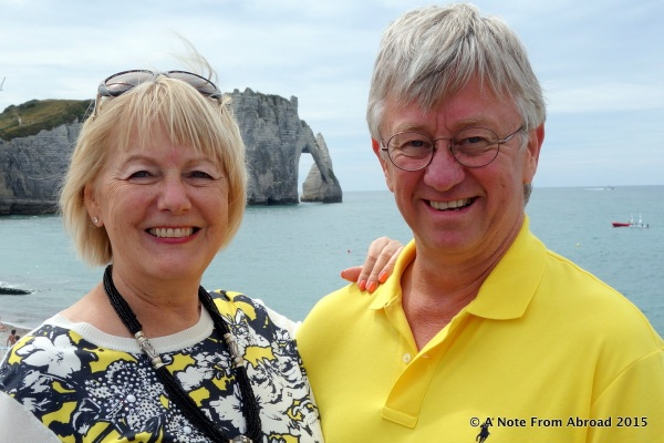 With the cliffs of Etretat behind us