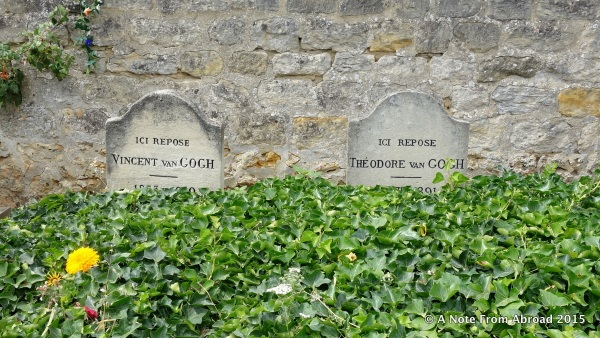 Grave of Vincent Van Gogh and his brother Theo right next to him.