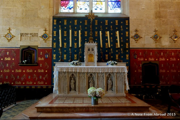 A small chapel area was at one end of the room