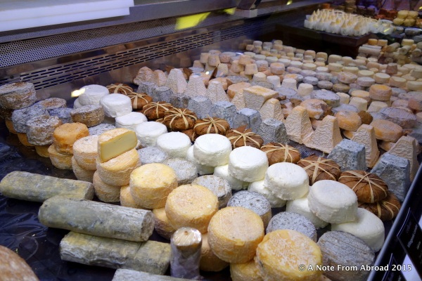 MANY different cheeses were for sale