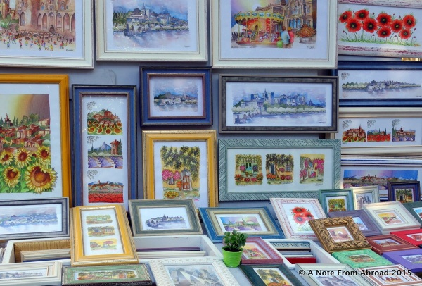 Artists have their work on display in hopes of making a sale