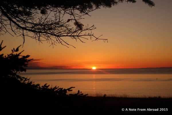 Sunset taken from Bluff trail, Fort Ebey State Park
