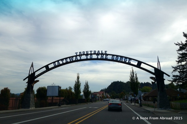 Troutdale is the western entry point in Oregon to take the Columbia River Gorge scenic drive