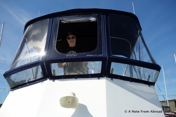 Captain Mark taking us out of the marina at Anacortes, WA