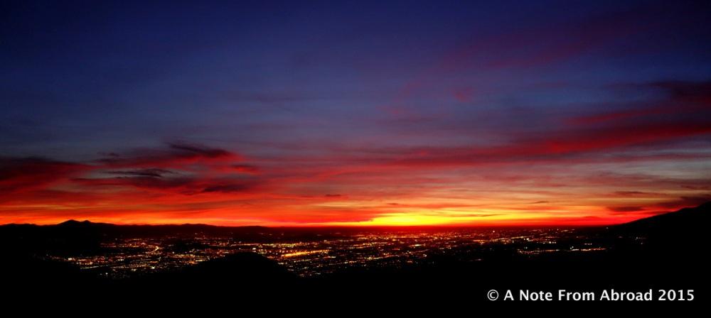 Sunset over San Bernardino