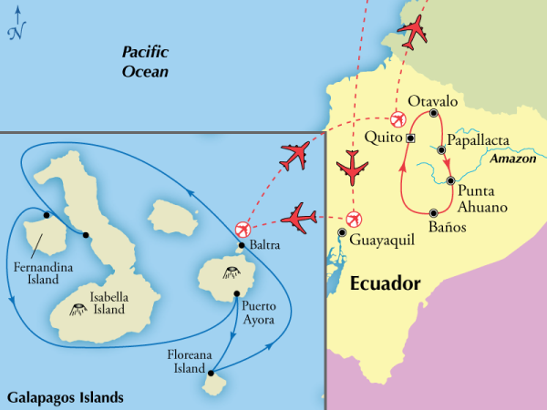 Gate 1 - 15 day Ecador with 5 day Galapagos Cruise