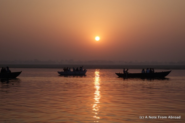 Sunrise on the Ganges River, India