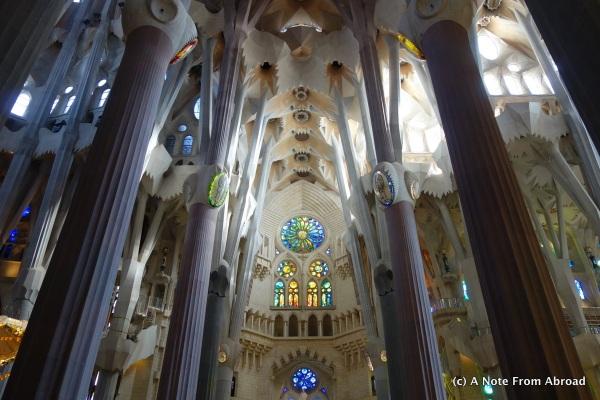 Inside Segrada Familia, Barcelona