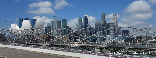Across from Singapore Marina - a skyline view