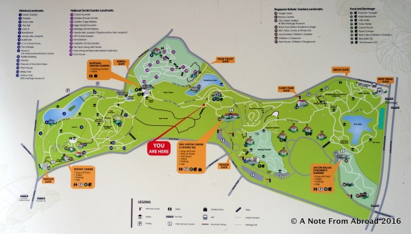 Map of the Botanical Gardens