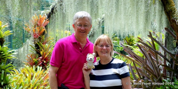 Tim, Gus, Joanne at the Orchid Gardens