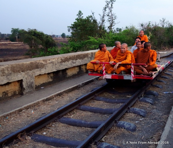 Monks on the Bamboo Train