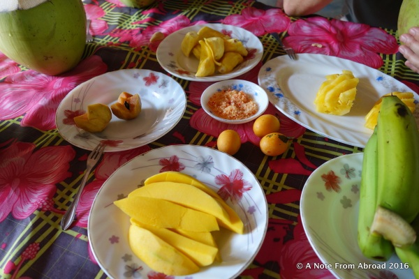 A wonderful variety of fresh fruit to snack on