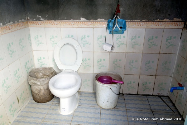 One western style toilet