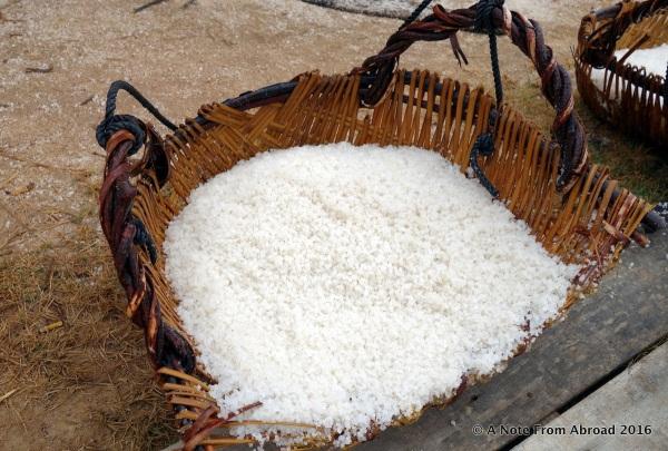 Basket full of salt