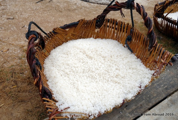 Basket full of salt