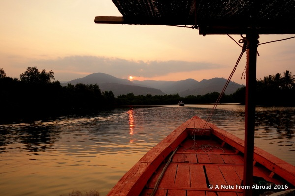 Sunset on the Kampot River