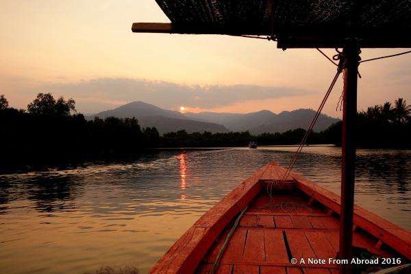 Sunset on the Kampot River